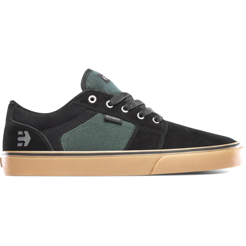 Etnies Barge LS Shoes - Black/Green/Gum