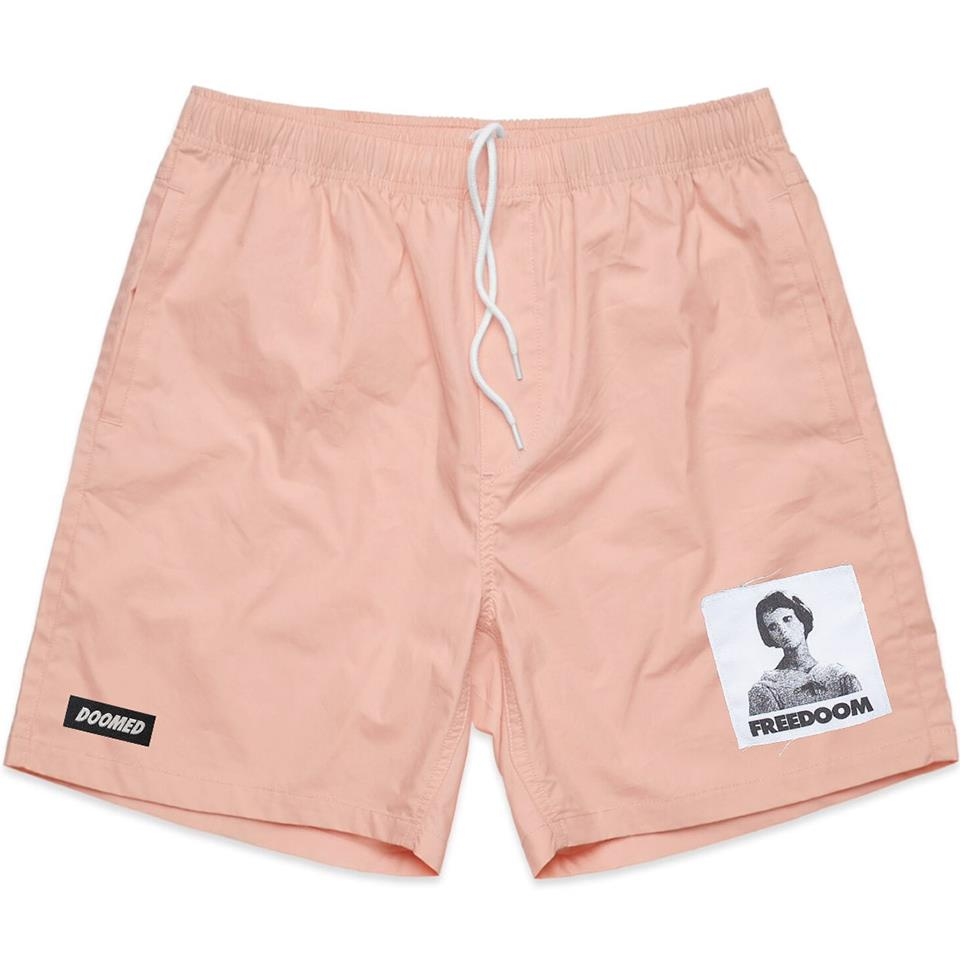 Image of Doomed Patch Shorts - Pink