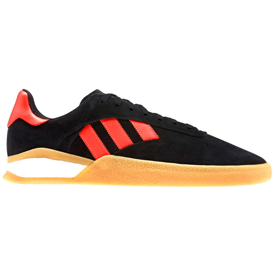 Image of Adidas 3ST.004 Shoes - Core Black/Cloud White/Solar Red