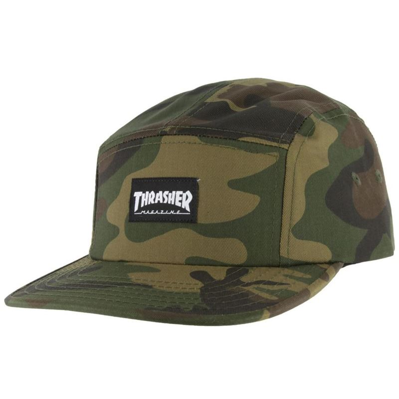 Thrasher 5 Panel Cap - Camo Camo