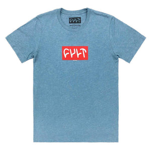 Cult 18 Logo T-Shirt - Heather Slate