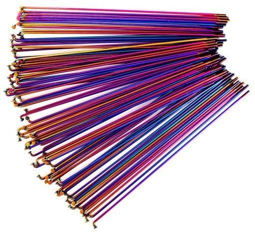 Total BMX Double Butted Tech Spokes - 20pcs- Rainbow