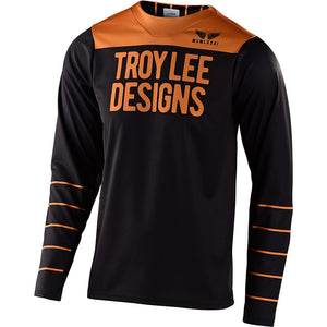 Troy Lee Skyline Pinstripe Long Sleeve Race Jersey - Black/Gold