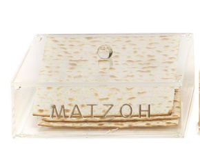Passover Matzo Tray Holder For Pesach Seder & Matzah Afterwards With Lid By Israel Gifts