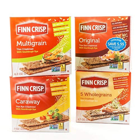 Finn Crisps, Crispbread Dark With Caraway, 7 Ounce