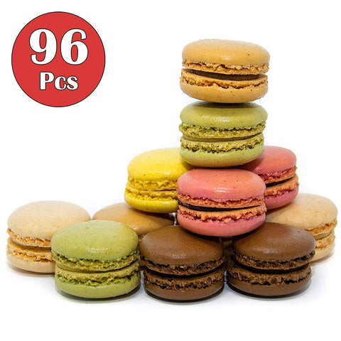 French Almond Macarons Gift  96 Pcs  Assorted Macaroons Cookies - Imported From France