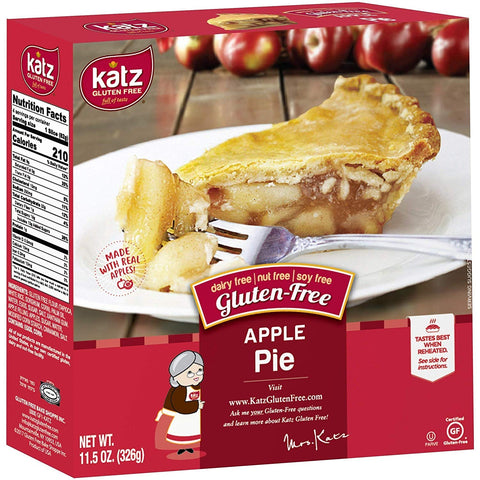 Katz Gluten Free Personal Size Apple Pie | Dairy, Nut, Soy And Gluten Free | Kosher (6 Packs Of 1 Pie, 11.5 Ounce Each)