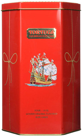 Tortuga Caribbean Golden Original Rum Cake Gift Pack 4Oz - In Keepsake Tin
