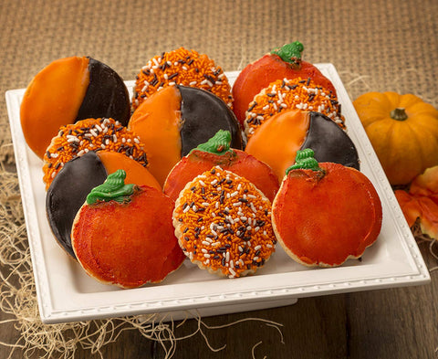 Pumpkin Bakery Assorted Top Gift Box For Halloween Thanksgiving Pumpkin Cookies Ideal For Men & Women, Corporate Gatherings & Family Reunions By Dulcet Gift Basket