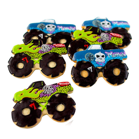 Dz. Monster Truck Cookies! Lots Of Styles To Choose! Birthday Themed Party Favors Or Gift!