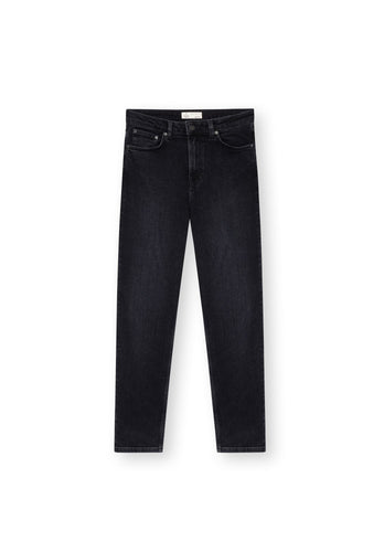 TT203 Mom Cropped Jeans black