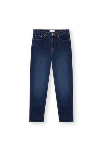 TT203 Mom Cropped Jeans indigo