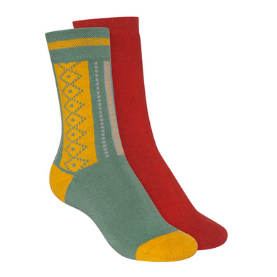 Socken hight-cut Terry Red/Jacquard