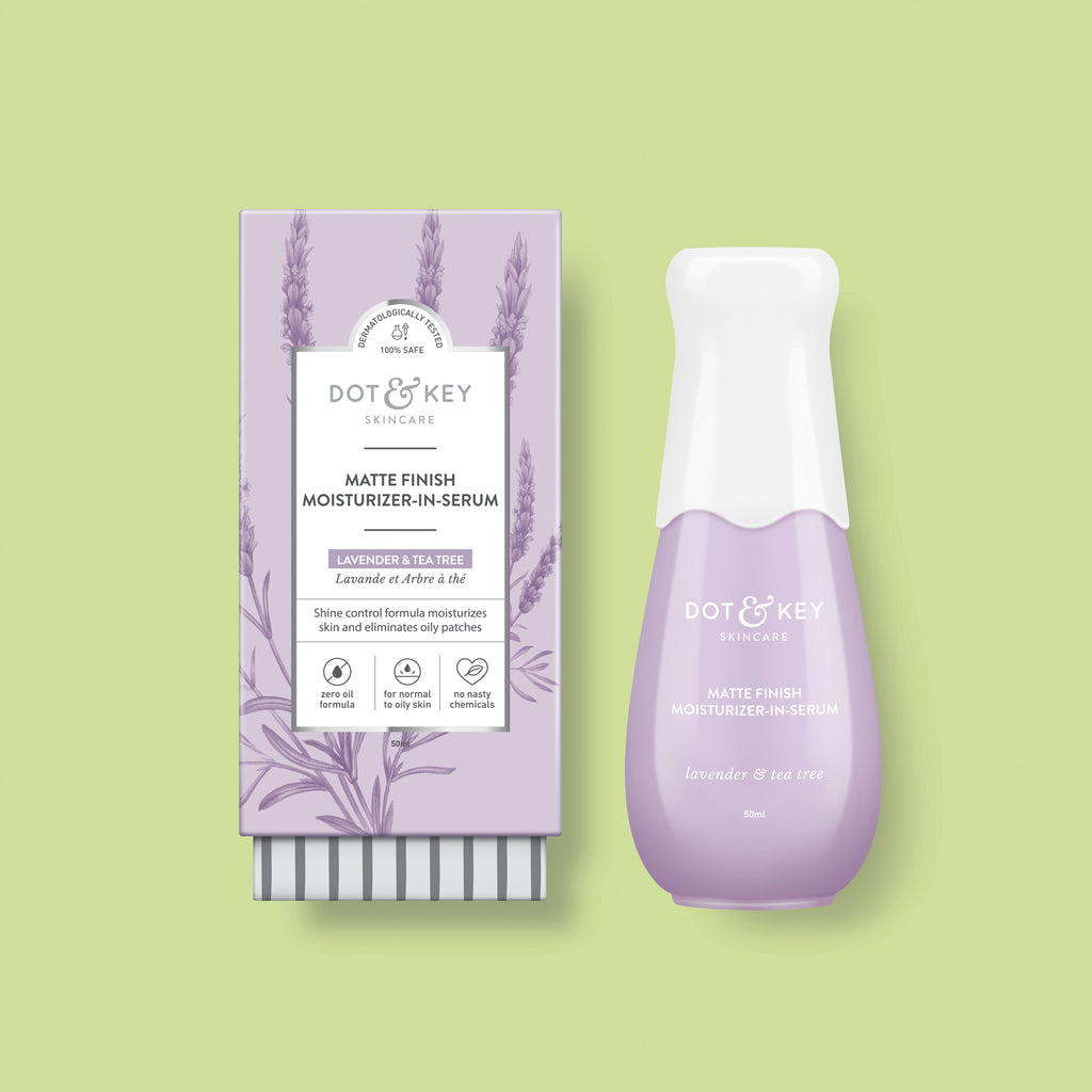 Dot & Key Matte Finish Moisturizer in Serum, face serum for oily skin, with lavender essential oil, for matte facial glow