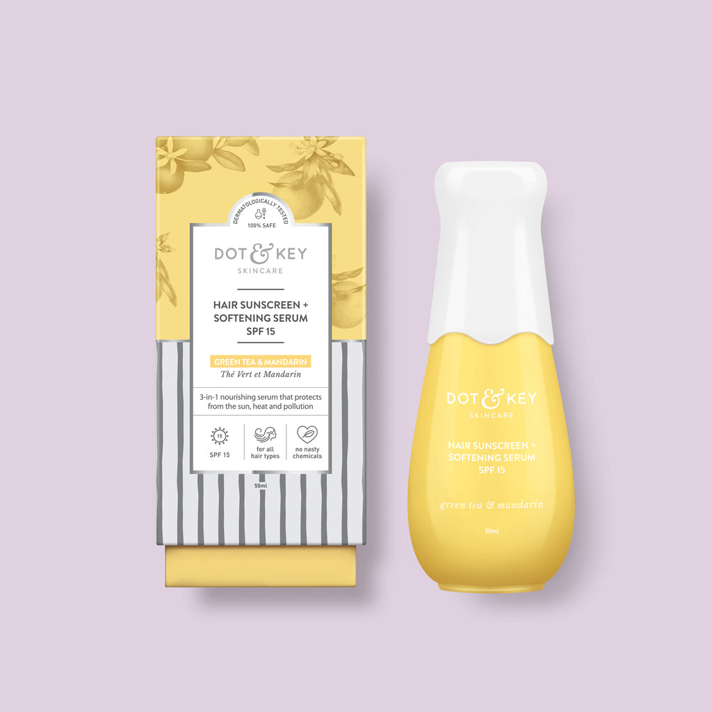 Dot & Key Hair Sunscreen + Softening Serum SPF 15, for all hair types, hair serum with sun protection