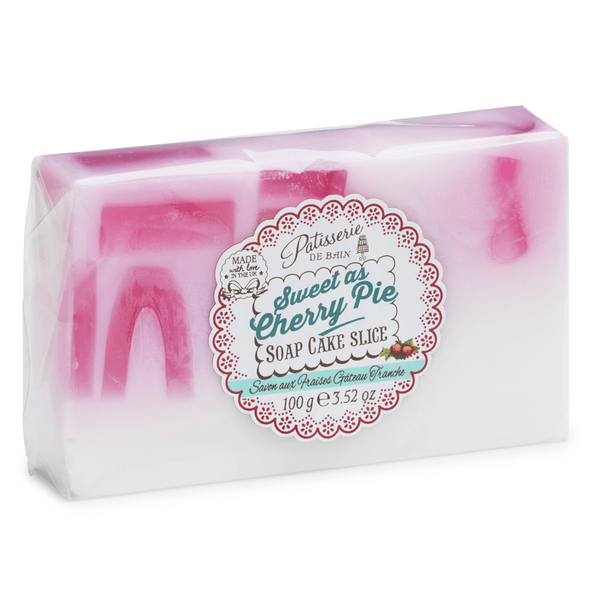 SWEET AS CHERRY PIE SOAP CAKE SLICE
