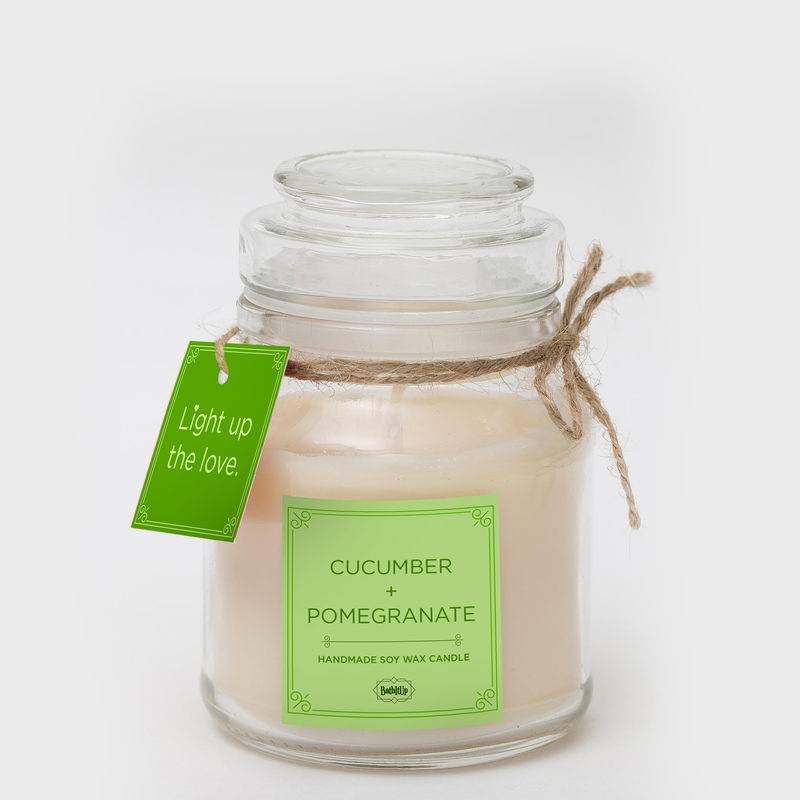 BathItUp Cucumber & Pomegranate Soy Wax Candle