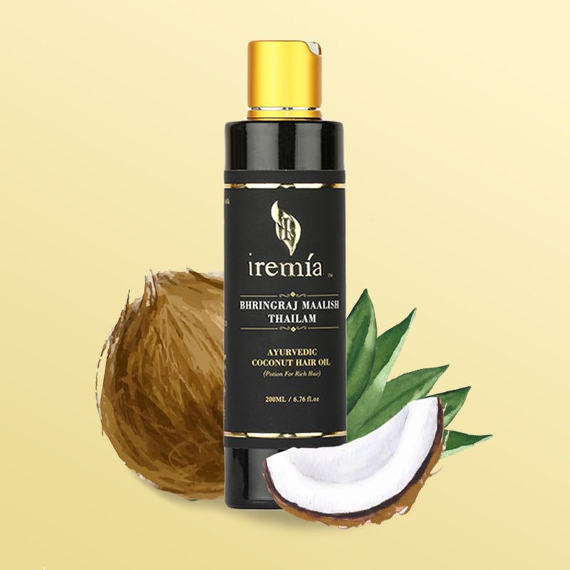 Iremia Bhringraj Maalish Thailam Ayurvedic Coconut Oil For Rich Hair