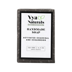 VYA NATURALS ACTIVATED CHARCOAL AND CEDARWOOD DEEP CLEANSING SOAP BAR
