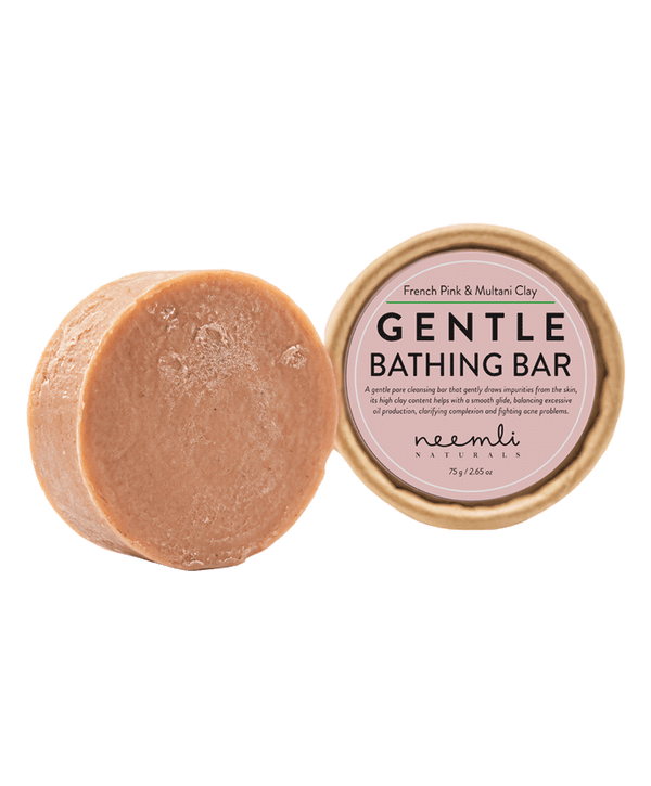 NEEMLI FRENCH PINK & MULTANI CLAY GENTLE BATHING BAR