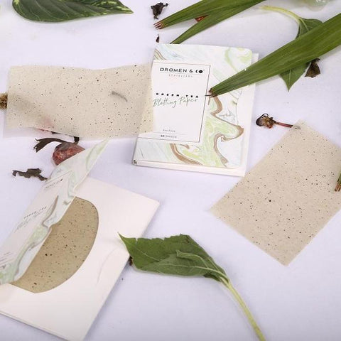 Dromen & Co GREEN TEA BLOTTING PAPER