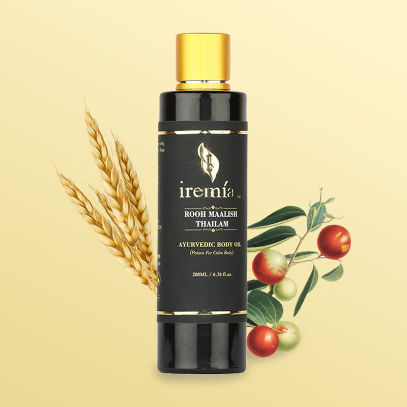 Iremia Ayurvedic Rooh Maalish Thailam Body Oil For Calm Body