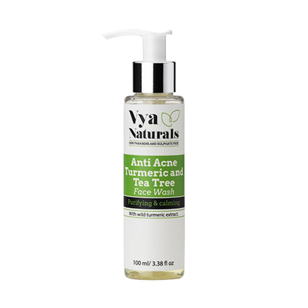 VYA NATURALS ANTI-ACNE TURMERIC & TEA TREE FACE WASH