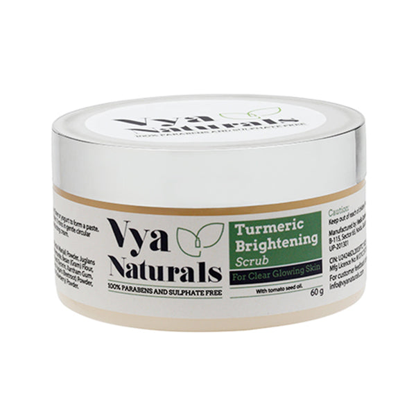 VYA NATURALS TURMERIC FACE SCRUB (DRY POWDER EXFOLIANT)-FOR ACNE & ACNE SCARS -FOR CLEAR GLOWING SKIN