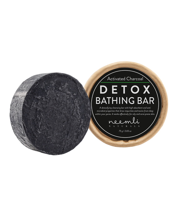 NEEMLI ACTIVATED CHARCOAL DETOX BATHING BAR