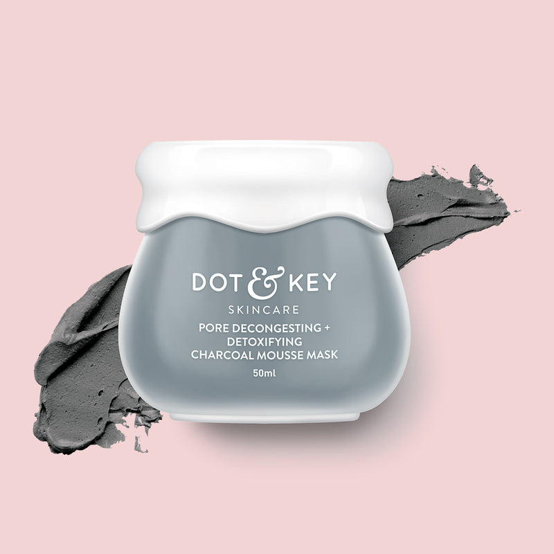 Dot & Key Pore Decongesting + Detoxifying Charcoal Mousse Clay Mask