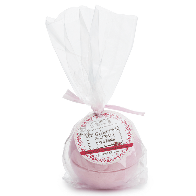 CRANBERRIES & CREAM LARGE BATH BOMB