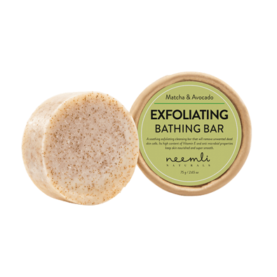 NEEMLI MATCHA & AVOCADO EXFOLIATING BATHING BAR