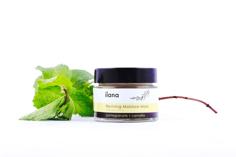 ILANA ORGANICS REVIVING MOISTURE MASK . POMEGRANATE + CAMELLIA