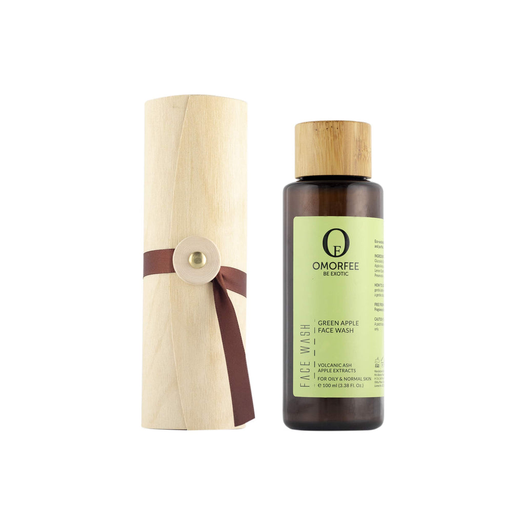 OMORFEE Green Apple Face Wash