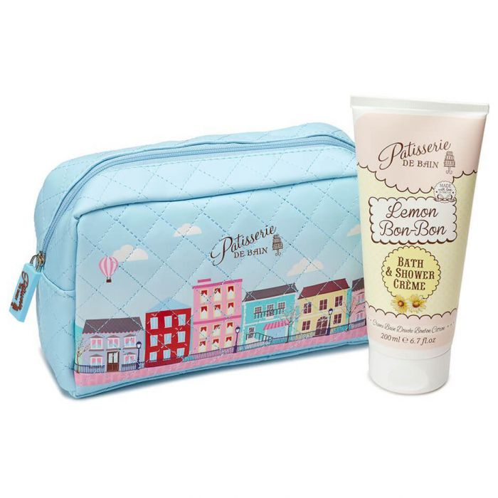 Patisserie De Bain Gift Set Cosmetic Bag Lemon Bon Bon Shower Crème 200ml