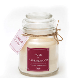 BATHITUP ROSE & SANDALWOOD SOY CANDLE