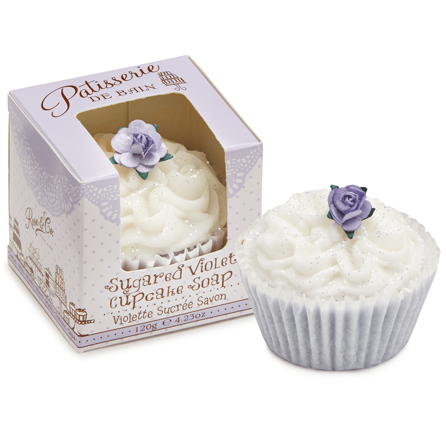 SUGARED VIOLET CUPCAKE SOAP