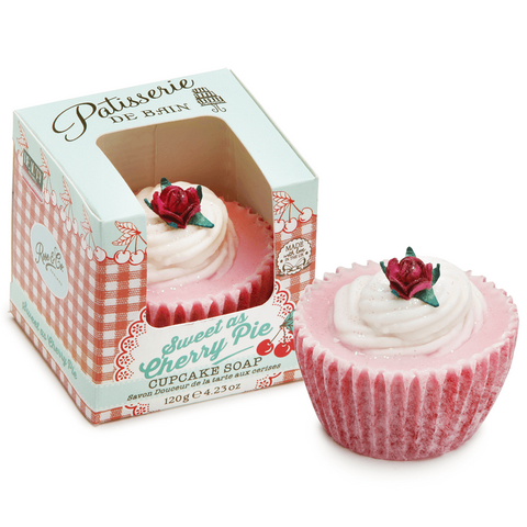 SWEET AS CHERRY PIE CUPCAKE SOAP