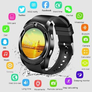 Hot Smartwatch Touch Screen Wrist Watch with Camera/SIM Card Slot Waterproof Smart Watch Bluetooth movement SmartWatch Bluetooth