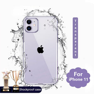 Silicone Case For iPhone 11 Pro X XR XS Max 6 6s 7 8 Plus Cover Transparent Cases For iPhone 11 Pro Max XR Shockproof Case Soft
