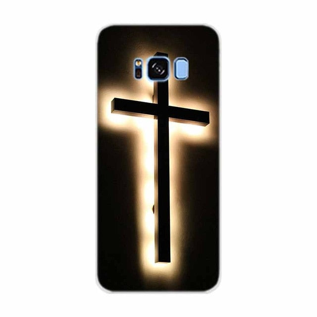 Case For Samsung Galaxy S9 Plus Edge Bible Jesus Christ Christian Cross