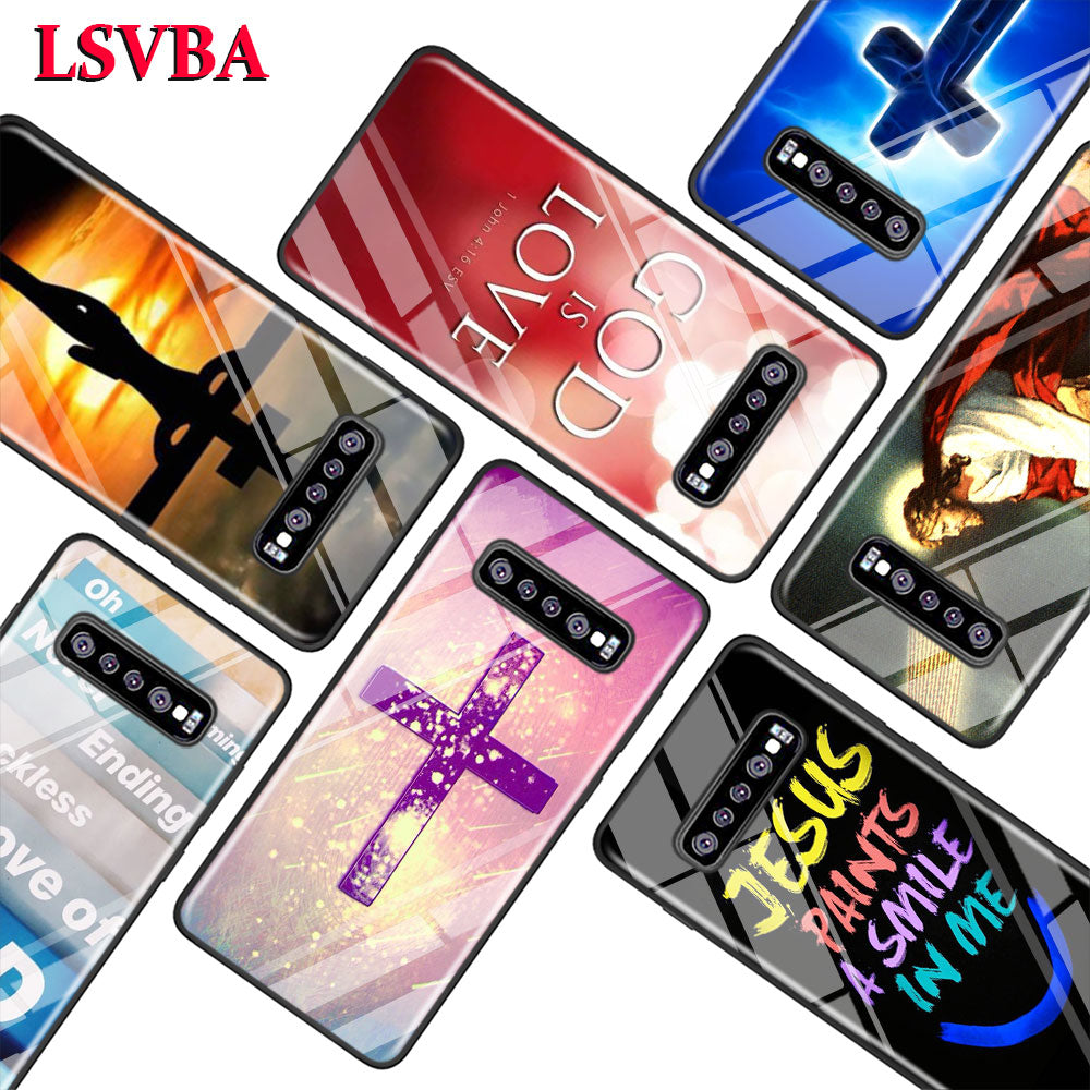 Christian Jesus Bible Verse for Samsung Galaxy Note 10 9 8 Pro S10e S10 5G S9 S8 S7 Plus Super Bright Glossy Phone Case Cover
