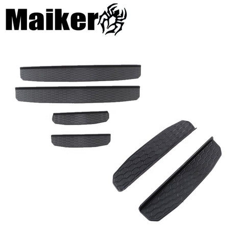 4pcs Offroad Parts For Jeep Wrangler Jl 2018 Abs Plastic Door Sills For Wrangler Entry Guard Cover