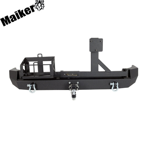 4x4 Rear Bumper With Spare Tire Rack For Fj Cruiser 2007+ Accessories Rear Bumper With Oil Drum Rack