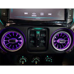Air Conditioning outlet air vent with ambient light  for Jeep wrangler Jk 2011-2017