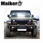 Auto Front Grille Guard For Jeep Wrangler Mesh Grill For Jk Bumper Protection