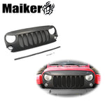 Car Front Hood Centre Grille Cover Modified Forjeep Wrangler Jk 07+ Off Road Body Parts