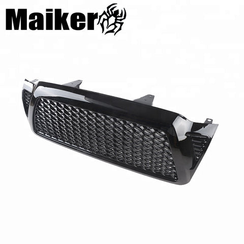 For Tundra 05-11 Black Front Mesh Grill Grille Pick Up Parts New Style Bumper Hood Grille