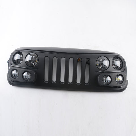 Grille with LED   For Jeep Wrangler Jk   Front grille accessories auto parts