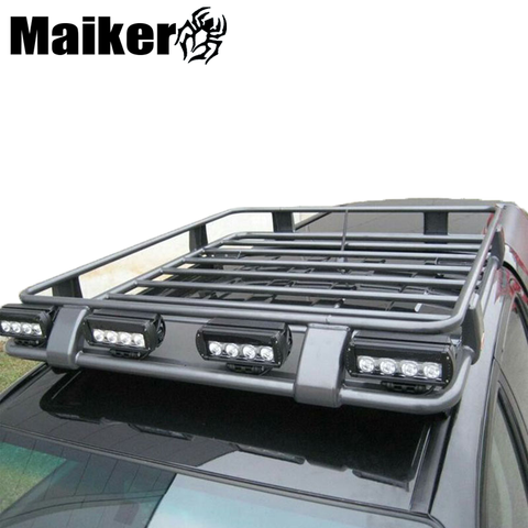 Heavy Duty 4x4 Universal Car Roof Rack With Light Widely Used Universal Cargo Carrier